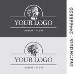 ancient greece woman head logo... | Shutterstock .eps vector #244668820