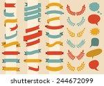 beg vector set of ribbons ... | Shutterstock .eps vector #244672099