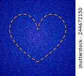 Embroidered Heart On Jeans...