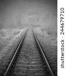 Fog Rail Line  Autumn Season ...