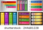 colorful modern text box... | Shutterstock .eps vector #244681228