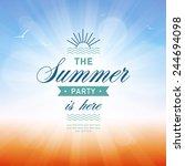 summer background | Shutterstock .eps vector #244694098