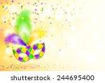 bright mardi gras carnival mask ... | Shutterstock .eps vector #244695400