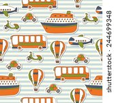 seamless pattern with colorful... | Shutterstock .eps vector #244699348
