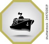 ship sign icon  vector... | Shutterstock .eps vector #244702819