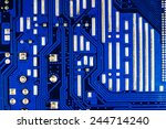 close up of a printed blue... | Shutterstock . vector #244714240