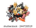 plastic animals | Shutterstock . vector #244720519