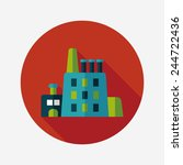 building factory flat icon with ... | Shutterstock .eps vector #244722436