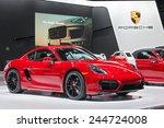 Постер, плакат: A Porsche Cayman GTS