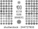 round ornaments collection.... | Shutterstock .eps vector #244727833