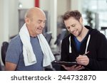 smiling trainer working with a... | Shutterstock . vector #244732870