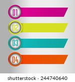 colorful modern text box... | Shutterstock .eps vector #244740640