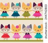 child's background | Shutterstock .eps vector #244742803