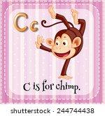 illustration of a letter c is... | Shutterstock .eps vector #244744438