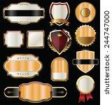 golden labels collection | Shutterstock .eps vector #244747000