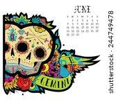 page astrological calendar....   Shutterstock .eps vector #244749478