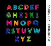 creative colorful alphabet.   Shutterstock .eps vector #244758970