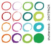 Color Circles Drawn With Brush...