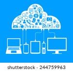 social network  communication... | Shutterstock .eps vector #244759963