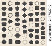 large set of blank frame  badge ... | Shutterstock .eps vector #244763740