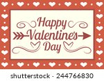 happy valentines day vector... | Shutterstock .eps vector #244766830