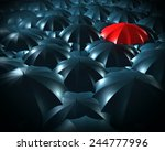 standing out from the crowd... | Shutterstock . vector #244777996