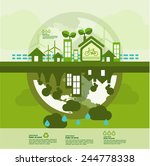 let's go green together to save ... | Shutterstock .eps vector #244778338