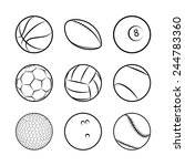 sports balls. | Shutterstock .eps vector #244783360