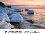 golden sunset. east sea. | Shutterstock . vector #244783678