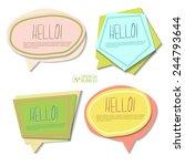 colorful cartoon speech bubbles | Shutterstock .eps vector #244793644