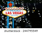 welcome to fabulous las vegas... | Shutterstock . vector #244795549