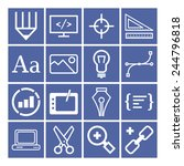 set of simple icons for web... | Shutterstock .eps vector #244796818