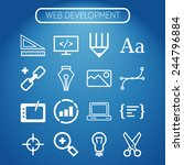 set of simple icons for web... | Shutterstock .eps vector #244796884