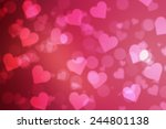 red valentine sparkle bokeh... | Shutterstock . vector #244801138