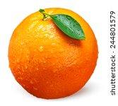Fresh Orange Fruit With Drops...