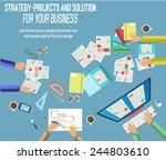 creative team  | Shutterstock .eps vector #244803610