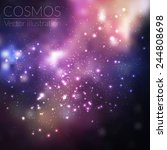 vector cosmos illustration with ... | Shutterstock .eps vector #244808698