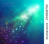 vector cosmos illustration with ... | Shutterstock .eps vector #244808704