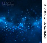 vector cosmos illustration with ... | Shutterstock .eps vector #244808710