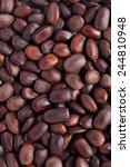 Small photo of Collection of Albizia saman or samanea saman rain tree seed.