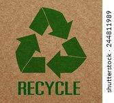 recycle paper | Shutterstock . vector #244811989