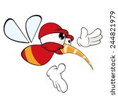 cartoon illustration of a red...   Shutterstock .eps vector #244821979