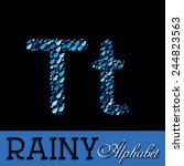 rainy drops alphabet with... | Shutterstock .eps vector #244823563