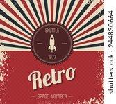 retro space rocket   Shutterstock .eps vector #244830664