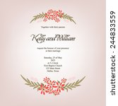 invitation or wedding card with ...   Shutterstock .eps vector #244833559