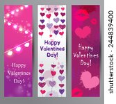 happy valentines day banners   Shutterstock .eps vector #244839400
