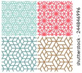 collection of four color star... | Shutterstock .eps vector #244846996