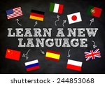 learn a new language wriite... | Shutterstock . vector #244853068