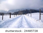 Winter landscape in the alps in Germany - stock photo