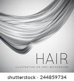 closeup of long human hair